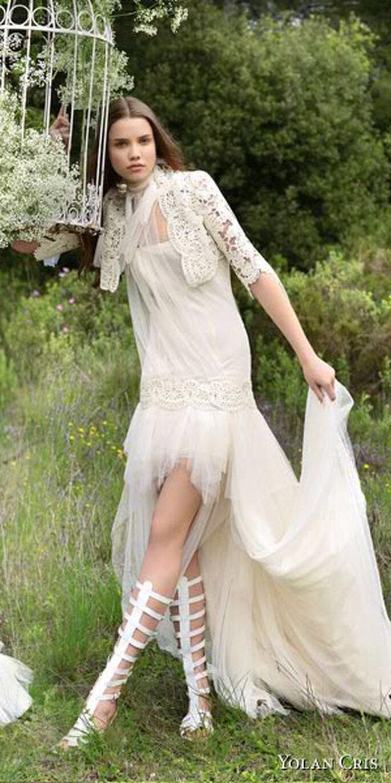 Ser Una Novia Hermosa De Campo con vestidos de novia Hippie