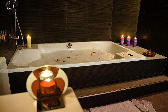 baño con rosas en palau