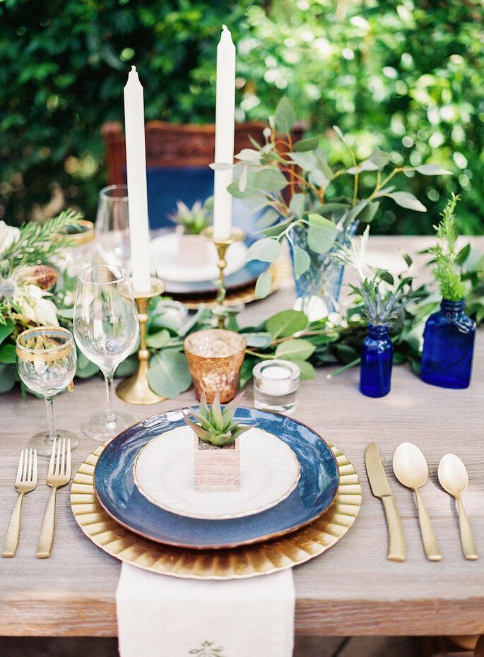 Una boda en azul clásico - Ashley Bosnick Photography