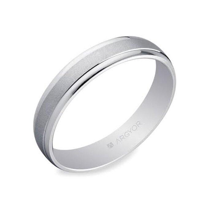 Alianza de boda en oro blanco - Foto Argyor