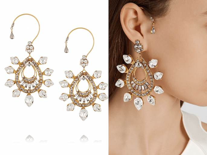 Accesorios en color dorado para una invitada fashionista - Erickson Beamon en Net a Porter