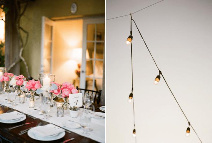 Inspiración números de mesa para tu boda. Fotografía KT MERRY