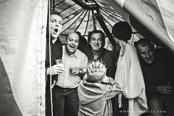 Stimmung pur bei den Hochzeitsgästen. - Foto: www.mamazelle.com
