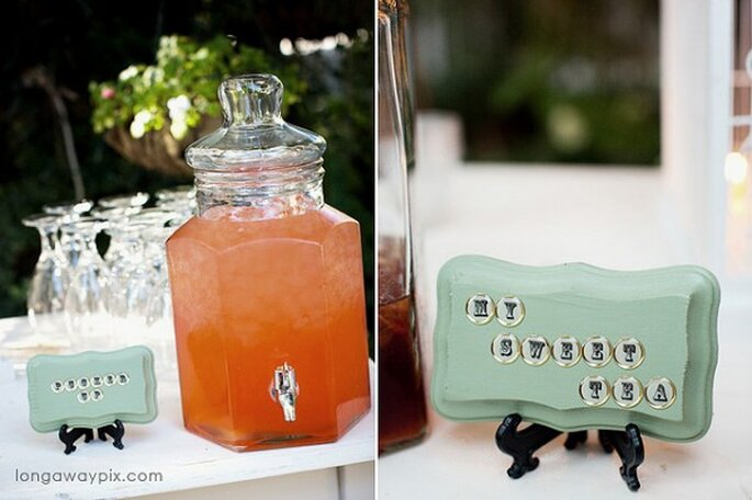 Bebidas súper originales para tu boda - Foto Jennifer Longaway