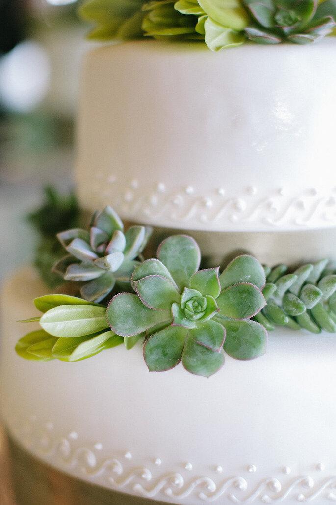 Una boda exótica decorada con catus, suculentas y follaje - Aaron Hoskins Photography