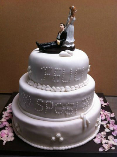 Beispiel: Hochzeitstorte, Foto: Knipplätzchen Doris Poss.