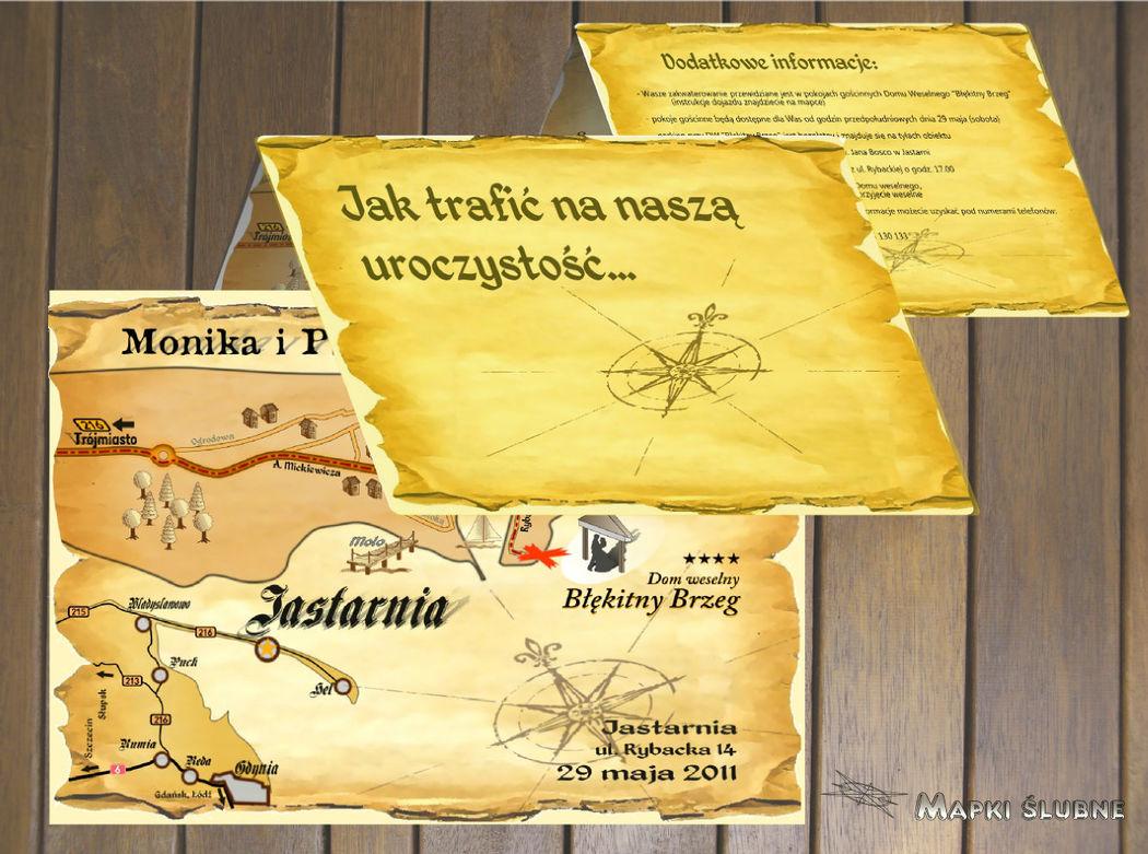 Składana mapa skarbów.