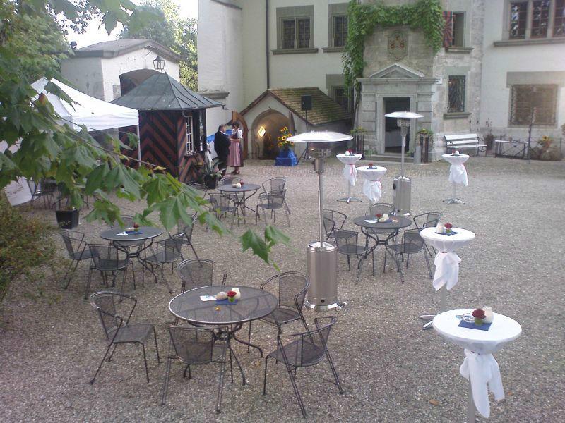Beispiel: Terrasse, Foto: Schloss Landshut.