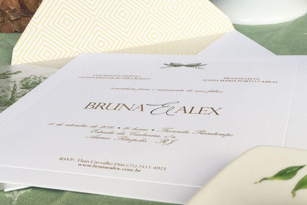 Bruna e Alex - Detalhe do convite
