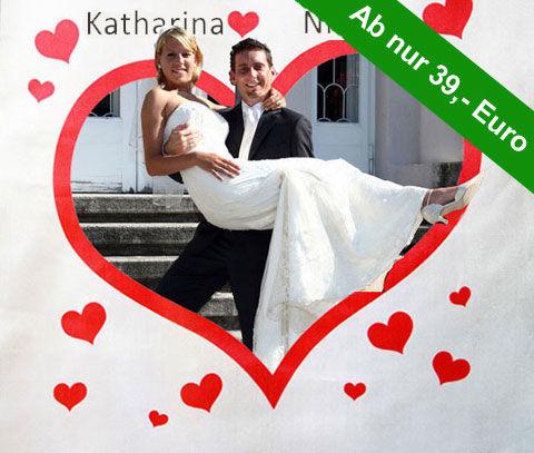 Beispiel: Hochzeitsherz und Scheren ins Glück, Foto: Galleryy.