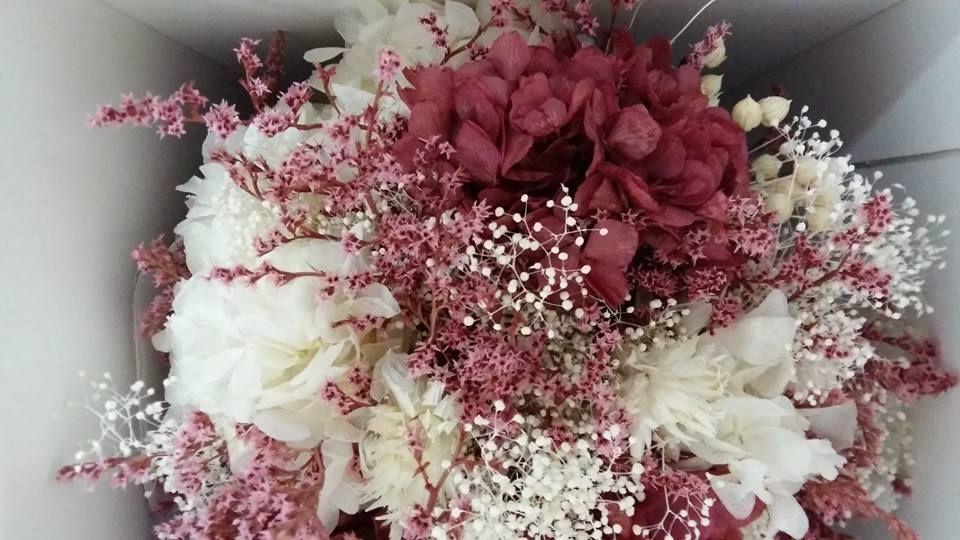 ramo flor preservada