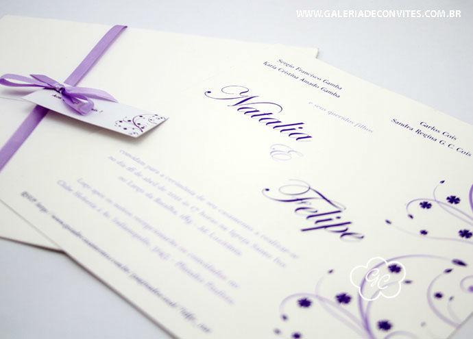 convite de casamento modelo 16