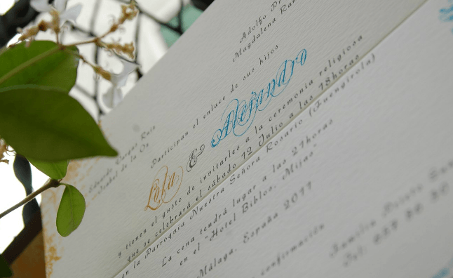 Invitación Azul amarillo