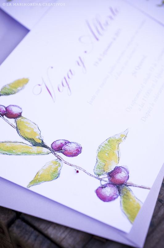 Detalle Ilustración para Invitación de Boda