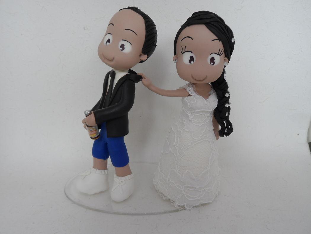 Noivinho de Biscuit Personalizado, opa aqui a noiva que manda!!!