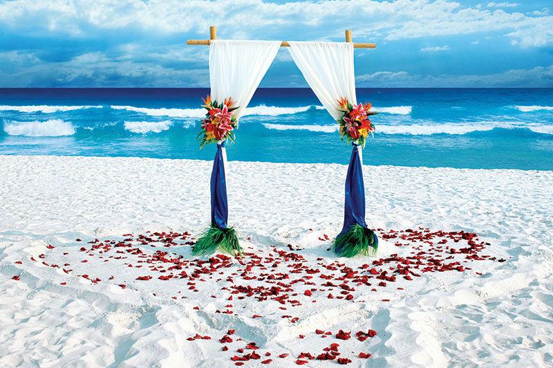 Ślub i wesele na plaży.