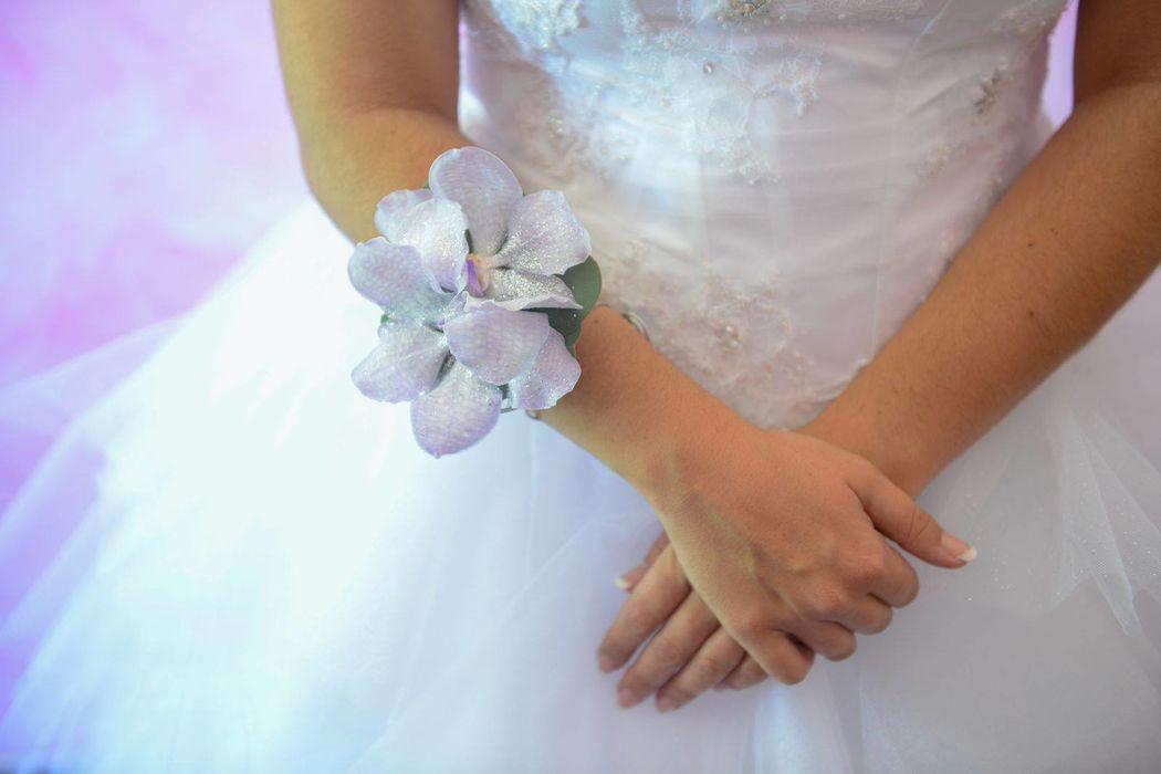 L'atelier de Sellyn bracelets vanda parme mariage