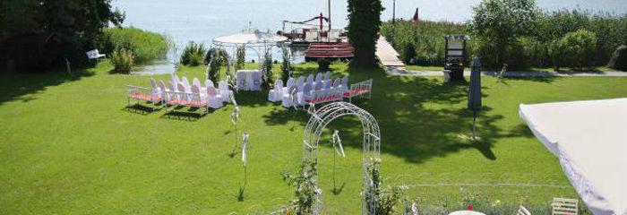 Beispiel: Privater Garten - Trauungszeremonie, Foto: Landhaus am See Alte Eichen.