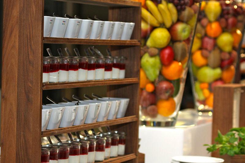 Beispiel: Ansprechende Präsentation der Buffets, Foto: Brunckhorst Catering.