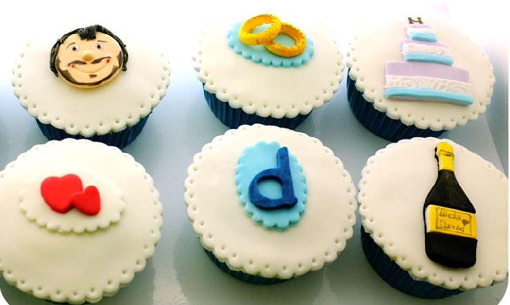 Cupcakes personalizados novio