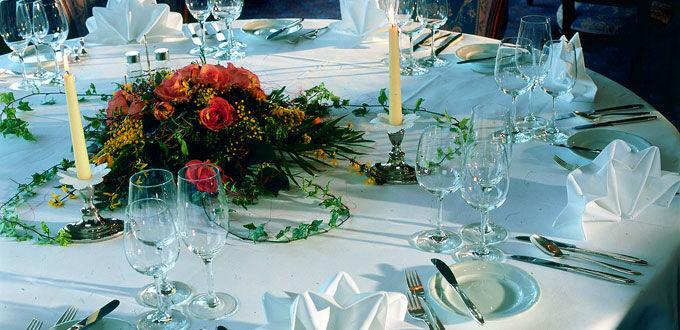 Beispiel: Tischdekoration, Foto: Belvédère Strandhotel & Restaurant.