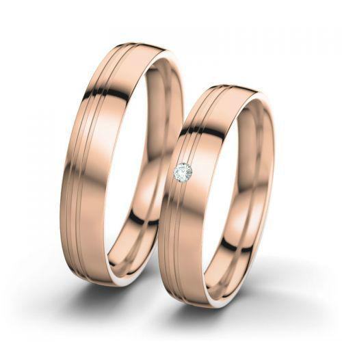 Voorbeeld: Maria & Josef - Rosegoud, gepolijst, Foto: 21 Diamonds.