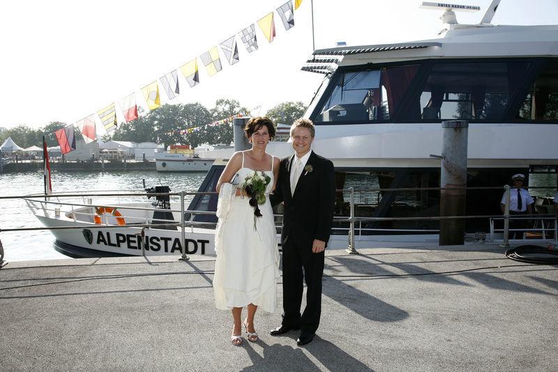 Beispiel: Hochzeit auf dem Bodensee, Foto: Bodenseeschifffahrt.