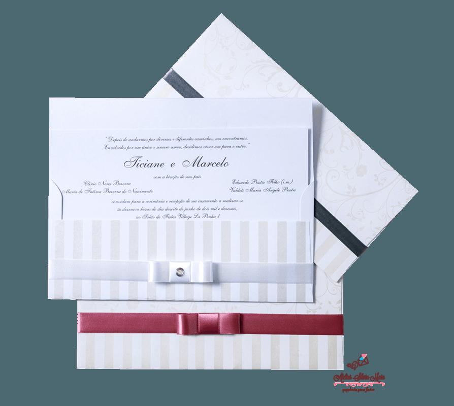 Convite envelope com impressão perolizada - Ref. CS.0121