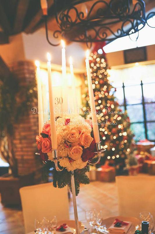 Danila Olivetti - winter wedding - centrotavola
