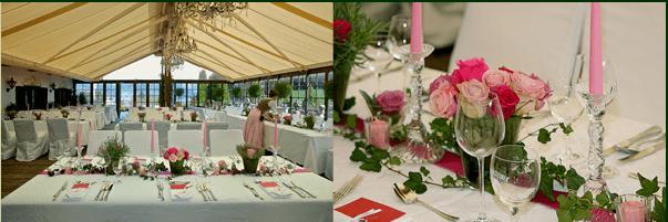 Beispiel: Tischdekoration, Foto: Freihaus Brenner.