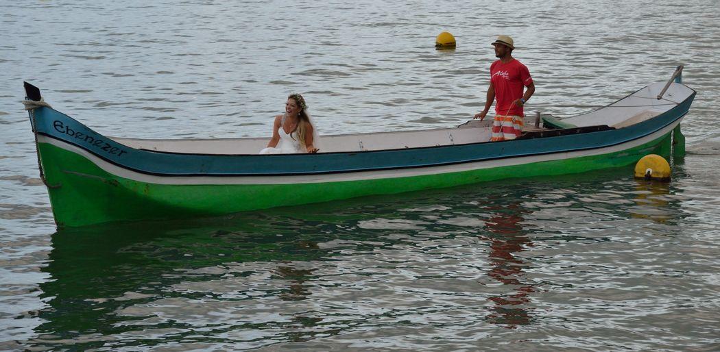 No Pier 151 a noiva pode fazer a sua entrada pelo mar, vindo de canoa ou lancha.