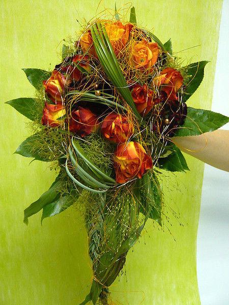 Beispiel: Brautstrauß, Foto: Blumen Steinfort.
