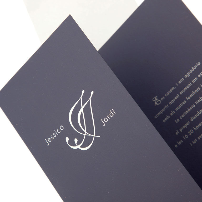 Invitación informal en tinta plata