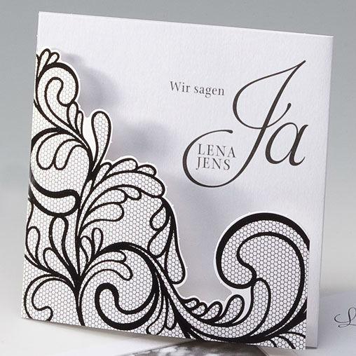 Beispiel: Hochzeitseinladung - Ranken im Netz, Foto: Whitestore.at.