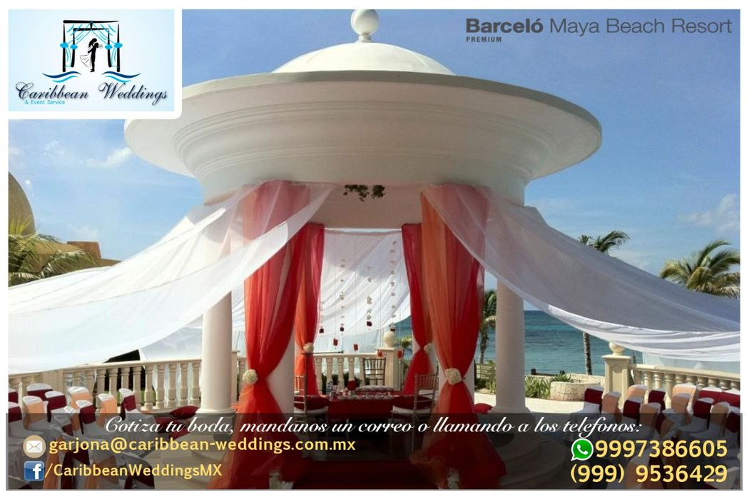 Tu boda en Barceló Maya Beach Resort por Caribbean Weddings  Más información: Tel +52 999 953 64 29 Cel +52 999 738 66 05 (Whatsapp) Mail: garjona@caribbean-weddings.com.mx