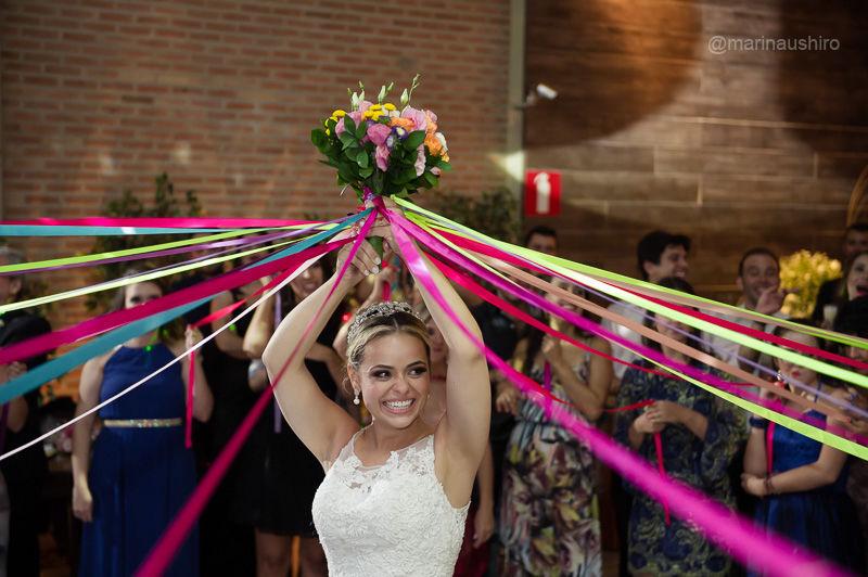 Casamento Sabrina e Estevão. Bouquet de Fitas.