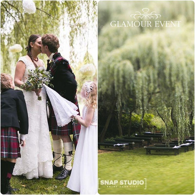 Polsko - szkocki ślub w stylu rustykalnym. fot. Snap Studio Shot