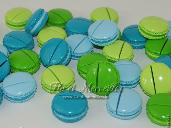 Marque-places Macarons
