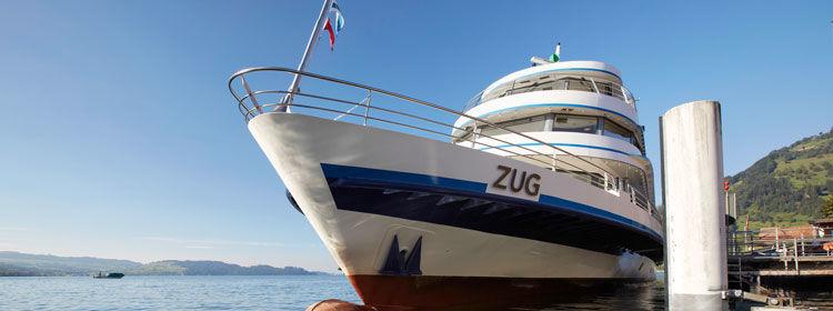 Beispiel: Die Flotte, Foto: Zugersee Schifffahrt.