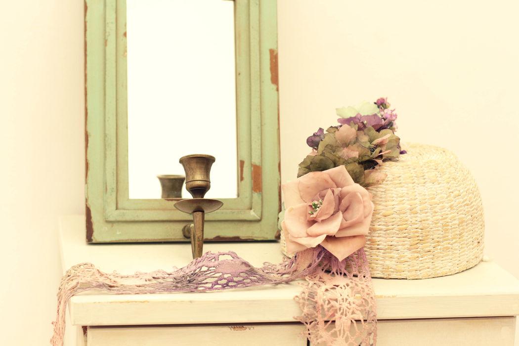 Tocado de flores.