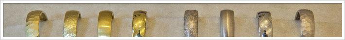 Beispiel: Trauringe Oberflächen, Foto: Das kleine Kra.