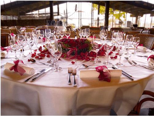 Beispiel: Tischdekoration, Foto: Der Sonnenhof.