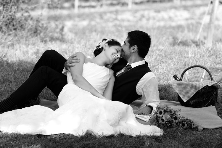 Beispiel: Romantische Hochzeitsfotos, Foto: Butter und Brot.