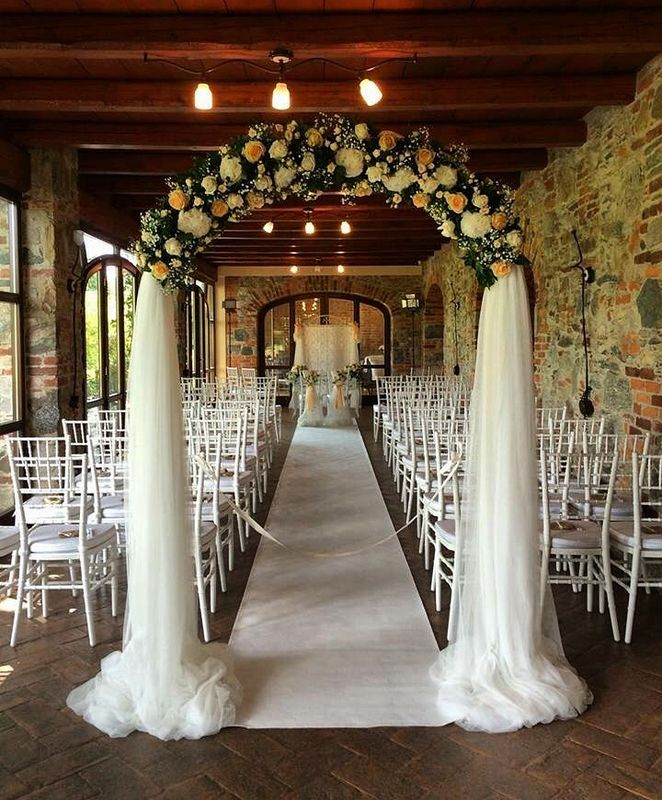 Panoramica allestimento area matrimonio simbolico