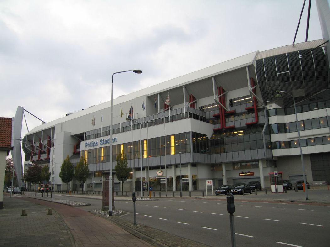 Buitenaanzicht Phillips stadion
