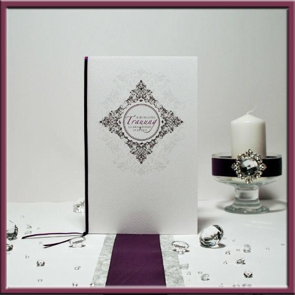Beispiel: Kirchenheft, Foto: Adam & Eva Hochzeitskarten.