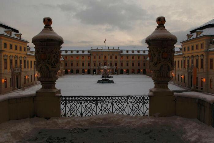 Beispiel: Innenhof, Foto: Schloss Ludwigsburg.