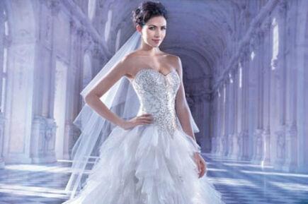 Beispiel: Ausgefallenes Brautkleid, Foto: Brautmode Milojka.