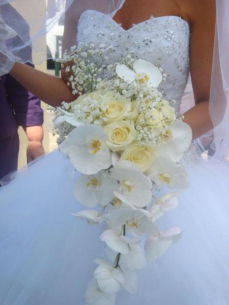 Bouquet de mariée orchidée - Tiges et Pétales