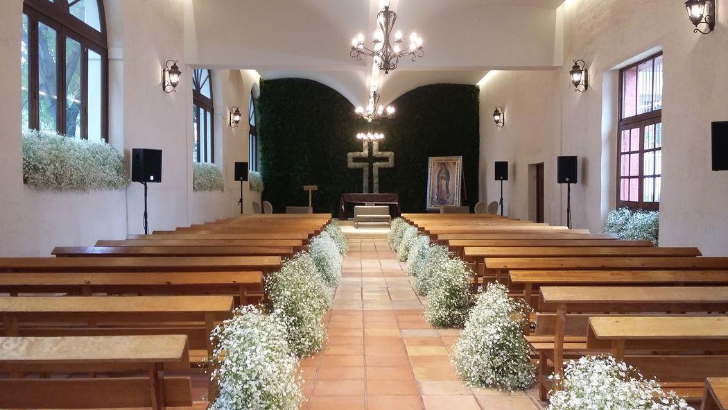 Salón Hacienda Pedregal, perfecto para la ceremonia religiosa.